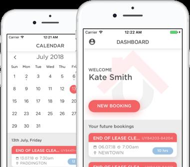 Calendar and Dashboard in UrbanYou app